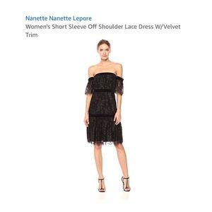 Nanette Lepore Short Sleeve Off Shoulder Dress NWT